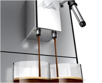 Melitta Caffeo CI préparation double expresso