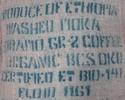 sac de café bio vert ethiopie moka sidamo