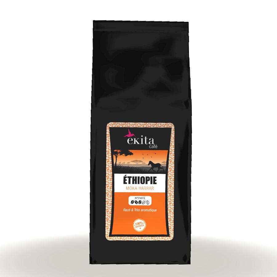 Café moulu Ethiopie Moka Harrar