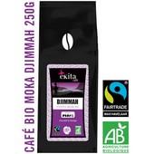 Café bio en grains Ethiopie Moka Djimmah 250g